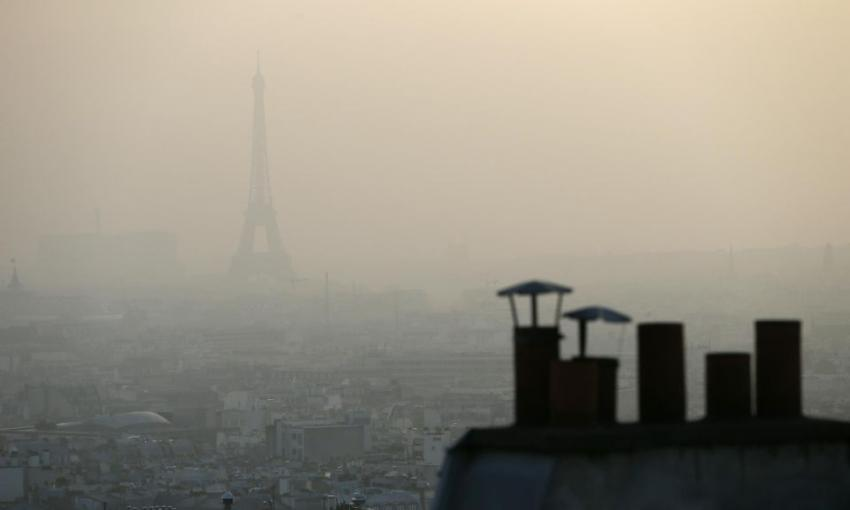 La pollution de l'air à Paris.
